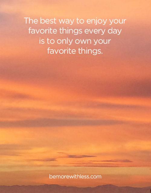scegli le tue cose preferite