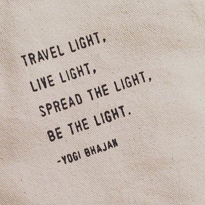 Viaggia leggero, vivi leggero...