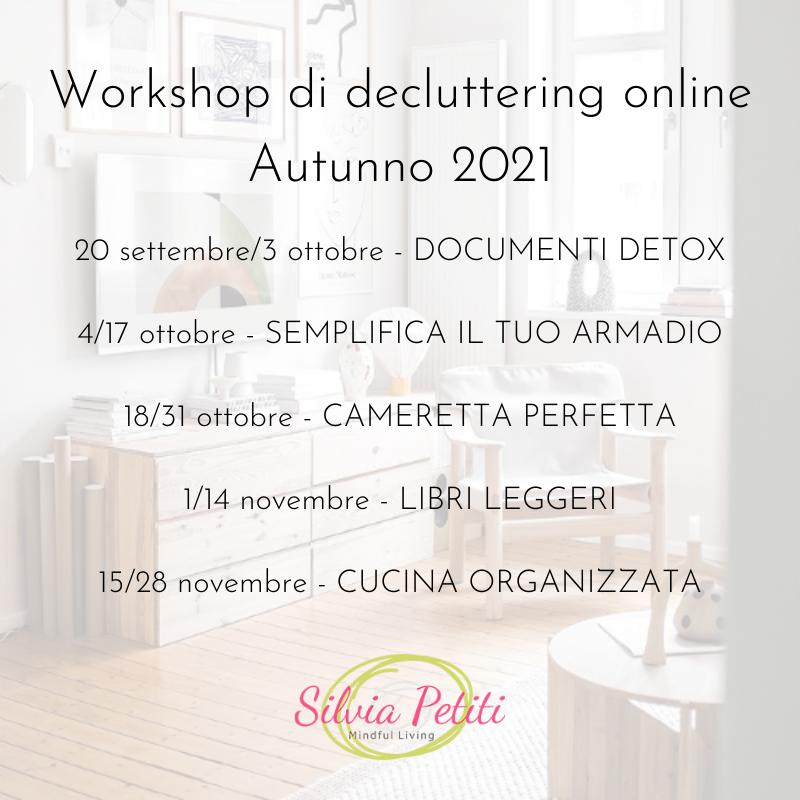 Workshop autunno 2021